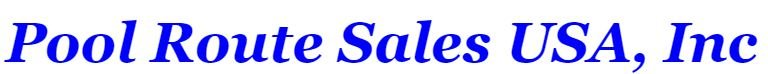 Pool Route Sales USA, Inc