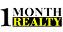 1 MONTH REALTY Logo
