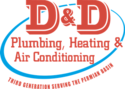 D&D Plumbing Heating and Air Conditioning Logo