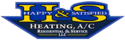H&S Heating and Air Conditioning Logo